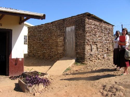 Mpotshini's first classroom