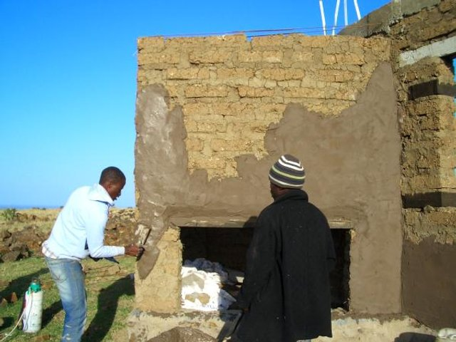 Plastering with lime