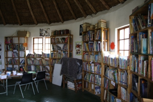 The pre-school we visited had a library, similar to the one that we are planning.