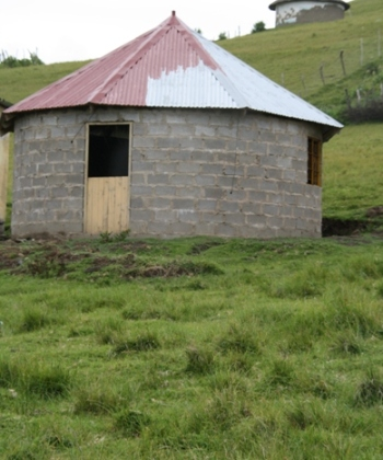 The hut that will house the pre-school while the ELC is being built