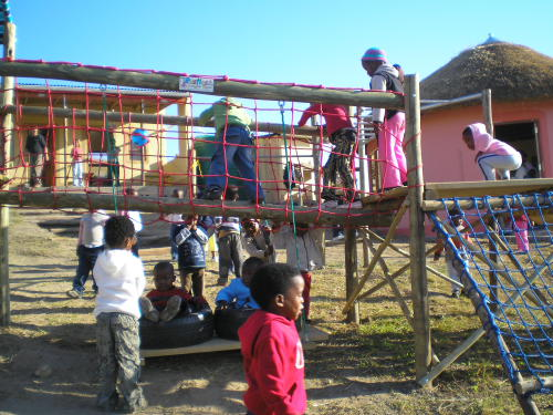 The outdoor play equipment brings absolute delight!
