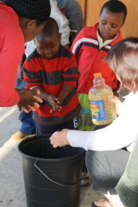 Handwashing is an important part of the morning routine