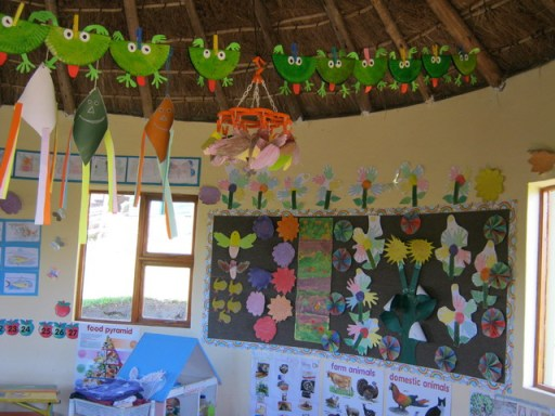 A beautiful classroom reflects the creativity of children and facilitators