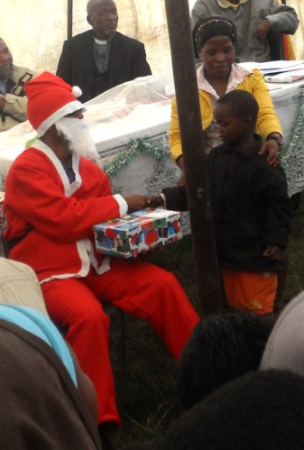 60 children received Santa Shoeboxes from Santa himself!