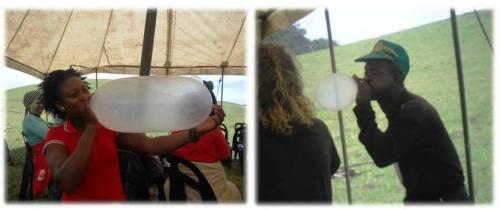 blowing condom