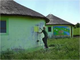 Sarah Hubert paints preschools
