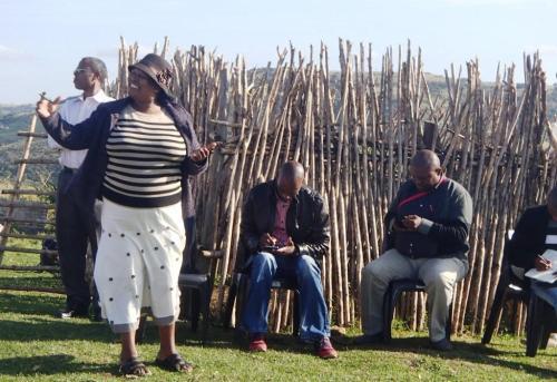 Nomntu Yawa from CoGTA addresses the community